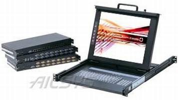 LCD/Keyboard Drawer has modular, 1U rackmount design.