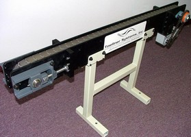 Rugged Conveyor Systems feature stainless steel belts.