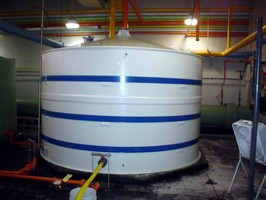PKG Equipment Inc. Field Erects Polypropylene Tank at Water Treatment Facility