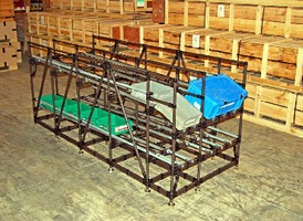 Flow Rack optimizes capacity and part presentation.