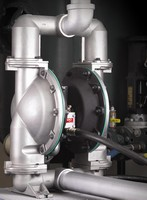 Diaphragm Pumps are available in aluminum, cast iron, and SS.