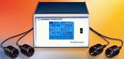 Optometer has up to 4 interchangeable detector heads.