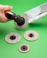Abrasive Discs feature layered construction.