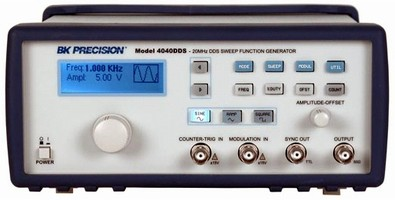 Sweep Function Generator utilizes direct digital systhesis.