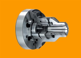 Mounting secures CNC collet chucks.