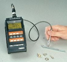 Coating Probe measures small parts.