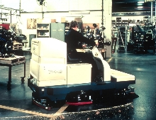 Scrubber/Sweeper sweeps and scrubs in just 1 pass.
