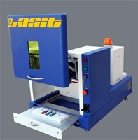 Fiber Laser engraves and marks coated/uncoated materials.