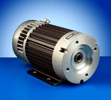 Brushless AC Motor features integrated controller.