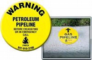 Curb Markers identify underground assets in any environment.