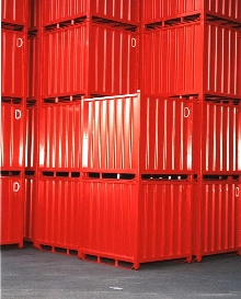 Bulk Storage Containers stack for added efficiency.