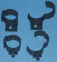 Harness Wrap Clip can be adjusted to hold various sizes.