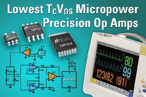 Micropower Op Amps feature offset voltage of 150 µV.