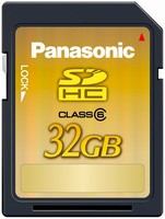 Memory Card stores up to 12 hr of HD video.