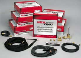 Torch Packages include all necessary TIG welding components.