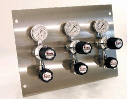 Modular Panels control pressure and flow of specialty gases.