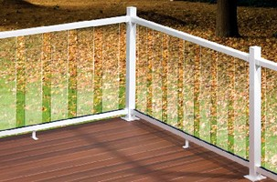 Railing Systems come in glass and aluminum.