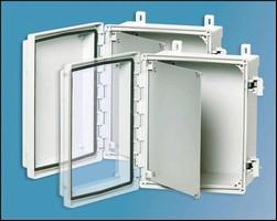 Industrial Equipment Enclosures feature transparent covers.