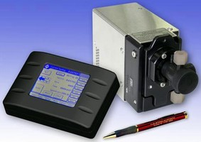 Precision Metering Pump dispenses UV-sensitive fluids.