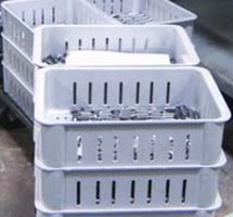 Wash-Boxes are constructed of FRP, not stainless steel.