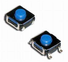 Tactile Switches feature 50 mA rating at 48 Vdc.