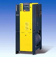 Rotary Screw Compressors feature tank-mounted design.