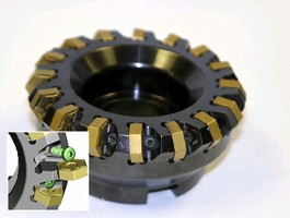 Milling Cutter System features side-lock insert clamping.
