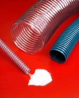 Flexible PVC Hose provides ventilation and fume removal.