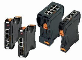 Switches/Converters connect field devices and Ethernet network.