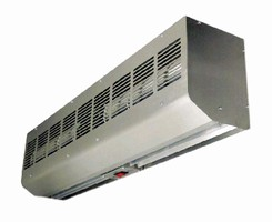 Air Curtains feature low-profile design.