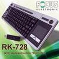 Keyboard utilizes 2.4 GHz RF wireless technology.