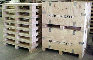 Shipping Crates are reusable and collapsible.
