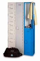 Plastic Lockers feature one-piece body construction.