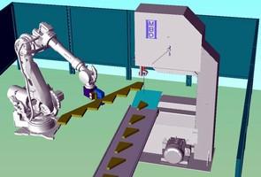 Bandsawing System utilizes robotic manipulation.