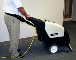 Walk-Behind Carpet Extractor protects worker health.