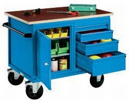 Mobile Cabinet Benches are available in 4 designs.