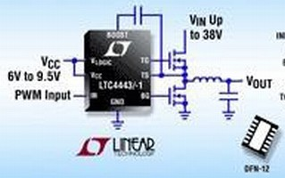 Synchronous N-Channel MOSFET Driver delivers up to 5 A.