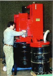 Aerosol Can Crusher processes 800 cans per hour.
