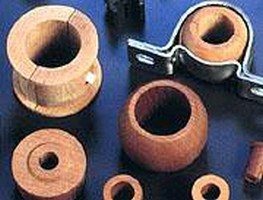 Hardwood Bearings resist corrosion and abrasion.