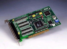 PCI Card provides stepping/pulse-type servo motor control.
