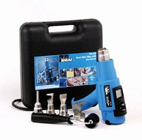 Heat Gun offers adjustable temperature and air flow.