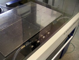Vacuum Table secures flat, thin parts.