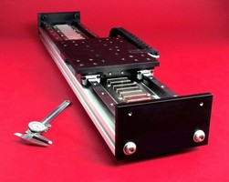 Linear Servo Motor Stage features one micron resolution.