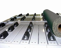 Slat Conveyor handles up to 30 in. long, 4,000 lb rolls.