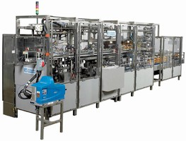 Case Packer combines compact size, gentle operation.