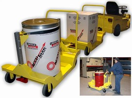 Drum Cart safely delivers welding wire to robotic cells.