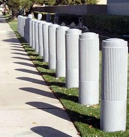 Bumper Post Sleeve protects bollards.
