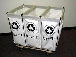 Recycling Carts promote accurate sorting during collection.