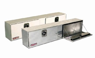 Truck Boxes provide secure tool storage.