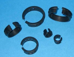 Open Bushings provide smooth holes for cables.